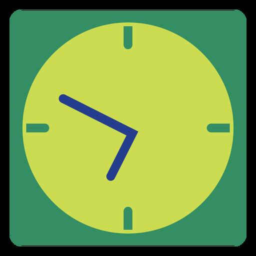 Green wall clock clipart Transparent PNG