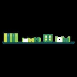 Clipart de prateleira de parede verde
