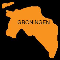 Mapa de la provincia de Groningen