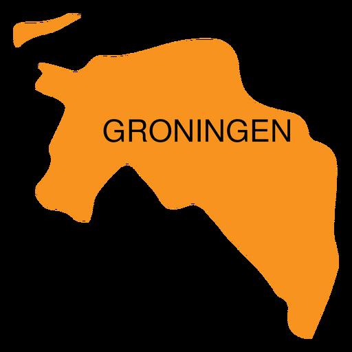 Groningen province map Transparent PNG