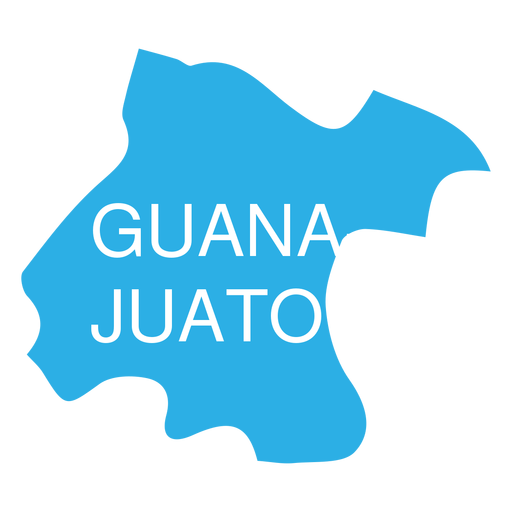Guanajuato state map Transparent PNG