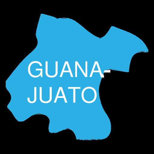 Mapa do estado de Guanajuato