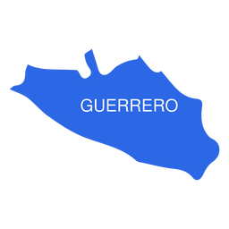 Mapa do estado de Guerrero