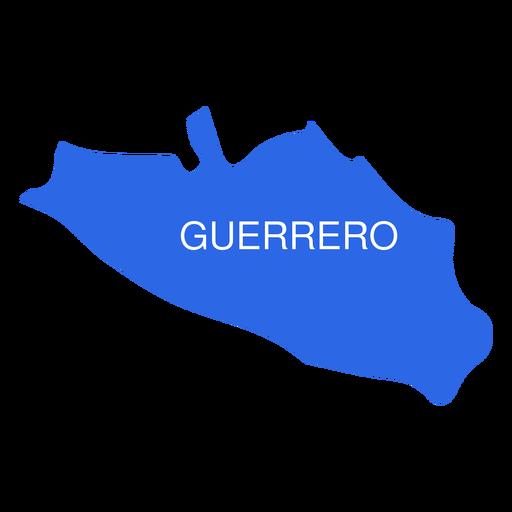 Mapa del estado de guerrero Transparent PNG