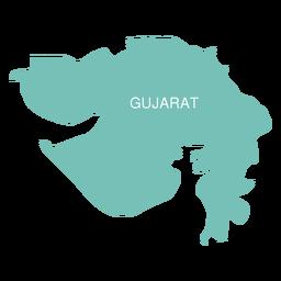 Mapa do estado de Gujarat