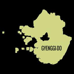 Mapa de la provincia de Gyeonggi do