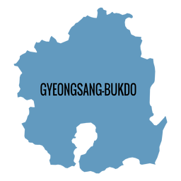 Gyeongsangbuk do province map