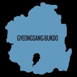 Gyeongsangbuk hacer mapa de la provincia