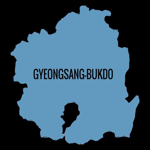 Gyeongsangbuk hacer mapa de la provincia Transparent PNG