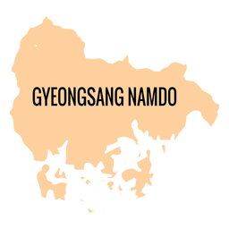 Gyeongsangnam do province map