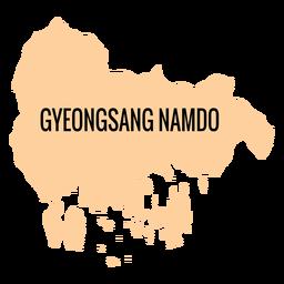 Gyeongsangnam do provincia mapa