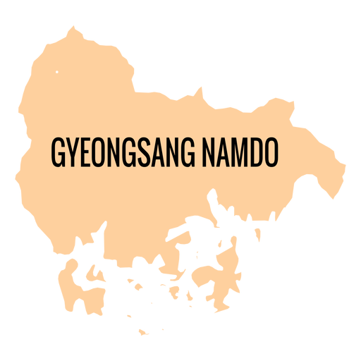 Gyeongsangnam do provincia mapa Transparent PNG