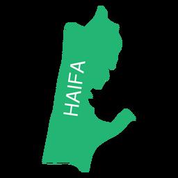 Mapa del distrito de haifa