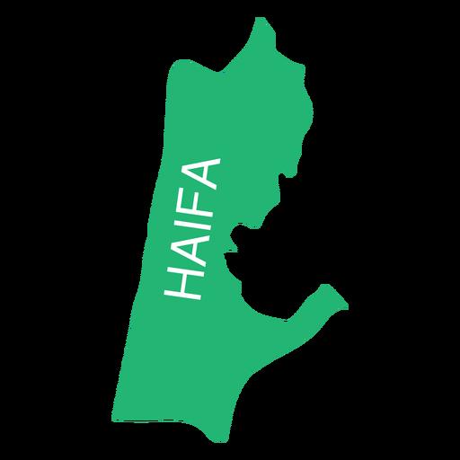 Mapa del distrito de haifa Transparent PNG