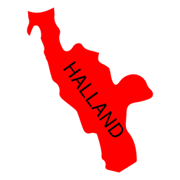 Halland county map