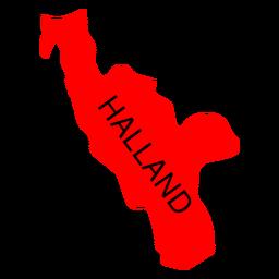 Mapa de condado de Halland