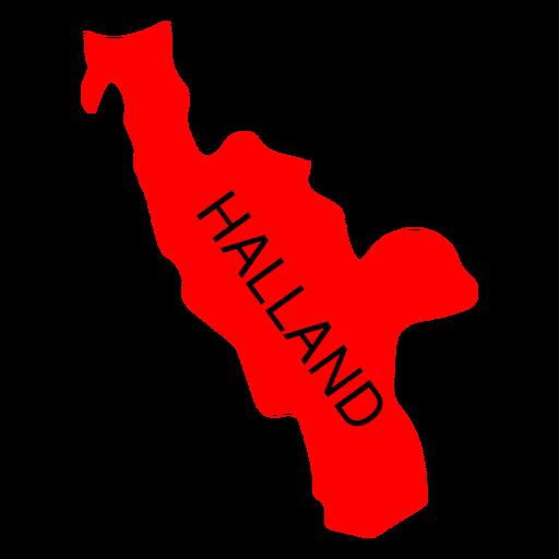 Mapa del condado de Halland