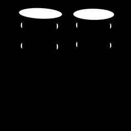 Silhueta de instrumento musical de toms de suspensão