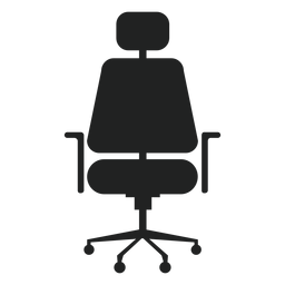 Headrest office chair flat icon