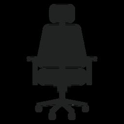 Ícone plana da cadeira do escritório de encosto de cabeça