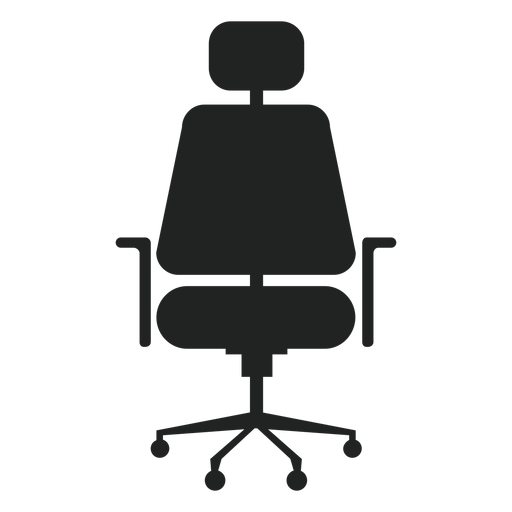 Headrest office chair flat icon Transparent PNG