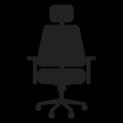 Reposacabezas silla de oficina plana icono Transparent PNG