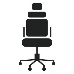Ícone de cadeira de escritório de encosto de cabeça