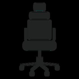 Icono de silla de oficina reposacabezas