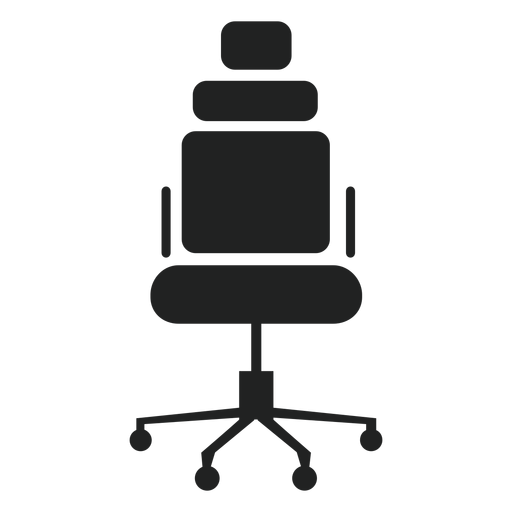 Headrest office chair icon Transparent PNG