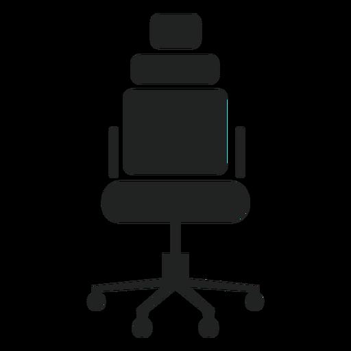 Icono de silla de oficina reposacabezas Transparent PNG