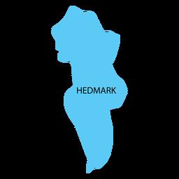 Mapa de condado de Hedmark