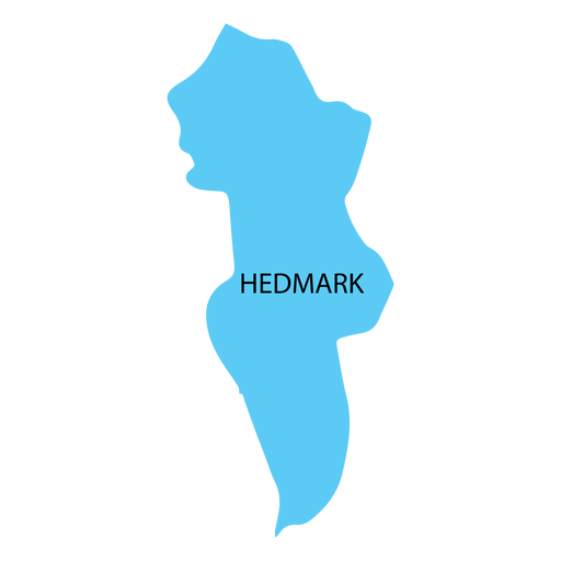 Hedmark county map