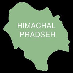 Himachal pradesh state map