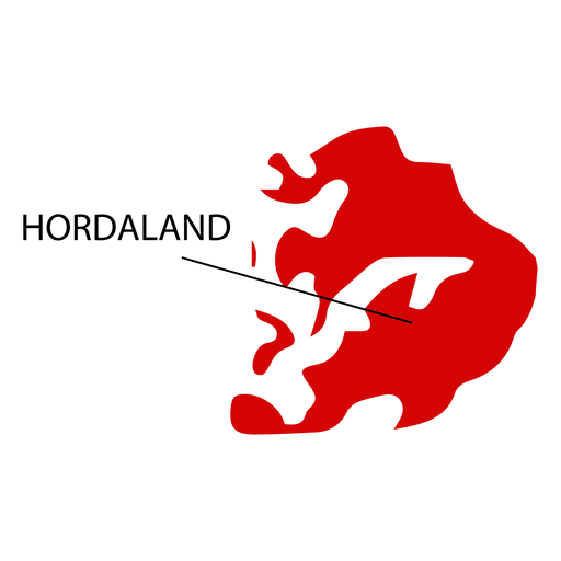 Hordaland county map