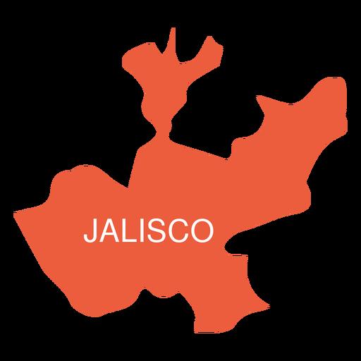 Jalisko state map Transparent PNG
