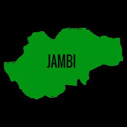 Mapa da província de Jambi