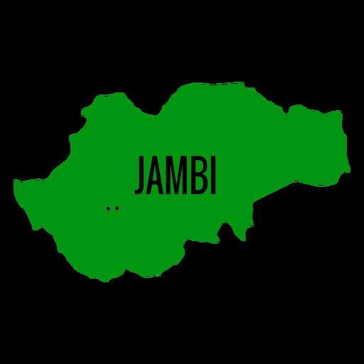Jambi province map Transparent PNG
