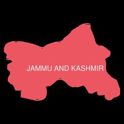 Mapa del estado de Jammu y Cachemira