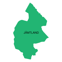 Jamtland county map