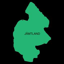 Mapa do condado de Jamtland