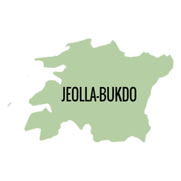 Jeollabuk do provincia mapa