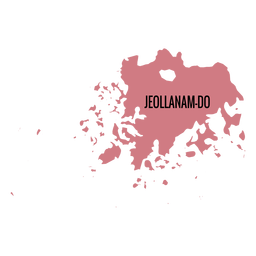Jeollanam do province map
