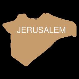 Mapa del distrito de Jerusalén