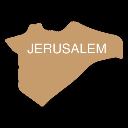 Mapa del distrito de Jerusalén Transparent PNG