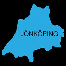 Mapa del condado de Jonkoping