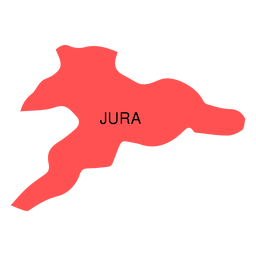 Jura canton map