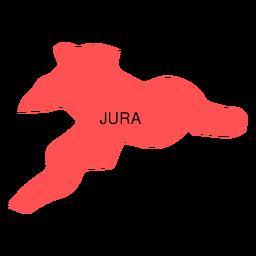 Mapa del cantón jura