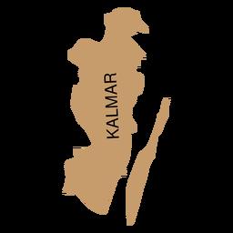 Mapa del condado de Kalmar