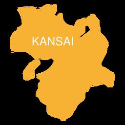 Mapa de la región de Kansai
