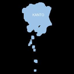 Kanto Region Karte